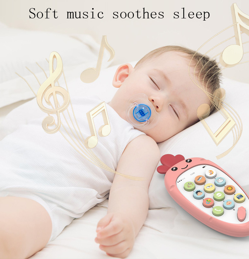 2020 New Baby Rattle Toy Early Education Puzzle Multifunctional Smart Phone Shape With Biteable Soft Rubber Baby Rattle Toy