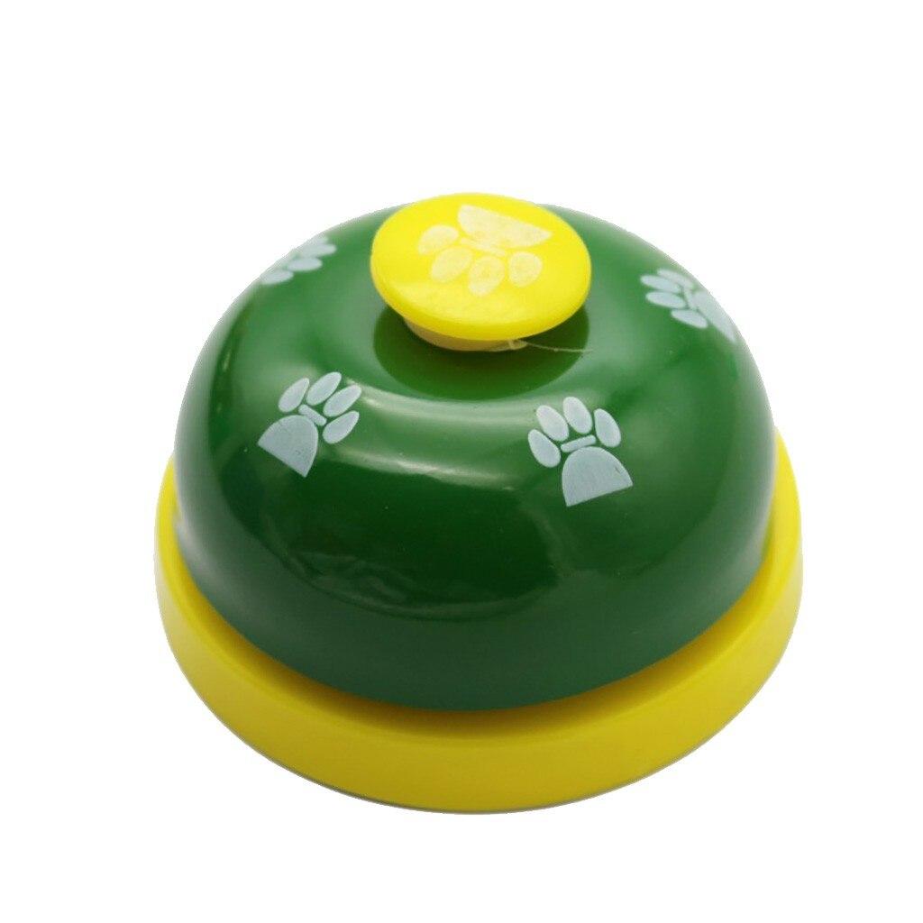 Transer 1pc Pet Dog Traning Supply Pet Feet Print Metal Bell Dog Toys Interactive Pet Toy Drop Shipping 207-2