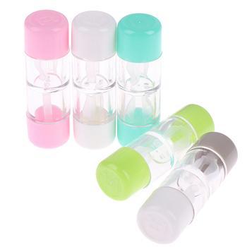 1 szt 5 kolorów futerał na okulary pudełko ochronne kosmetyczny pojemnik do przechowywania soczewek kontaktowych RGP Hard Contact tanie i dobre opinie WOMEN Contact Lens Bottle