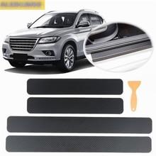 Car interior carbon fiber door sill 3D stickers car accessories for ford focus 1 2 3 MK1 MK2 MK3 2005 2006 2009 2015 2017 2019 цена и фото
