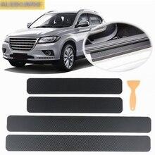 Car interior carbon fiber door sill 3D stickers car accessories for ford focus 1 2 3 MK1 MK2 MK3 2005 2006 2009 2015 2017 2019 car seat cover auto seats protector accessories for ford focus 1 2 3 mk1 mk2 mk3 2005 2006 2007 2009 2017 ka kuga 2017 2018