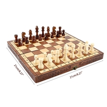 1Set Brain Developmental Toddler Board Game for Teenagers Traditional Chess Hand Crafted Board Classic Chess Toy