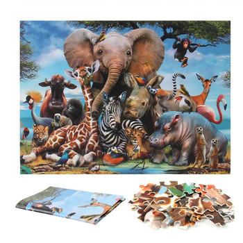 1000 piece puzzle paper floor adult animal children intellectual game learning educational toy