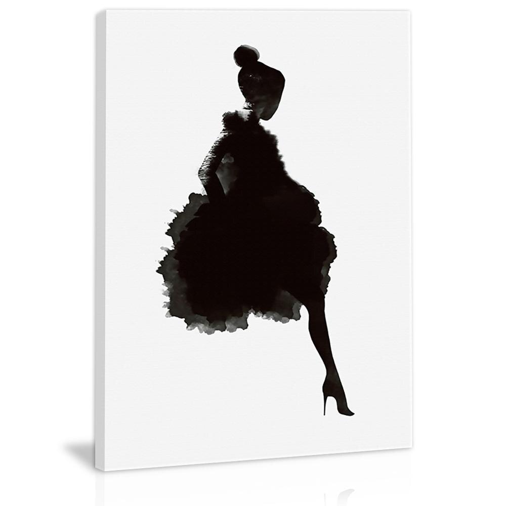 Черно белая абстрактная девушка, Настенный декор, холст, живопись, кухня, принты, картины для дома, гостиной, столовой