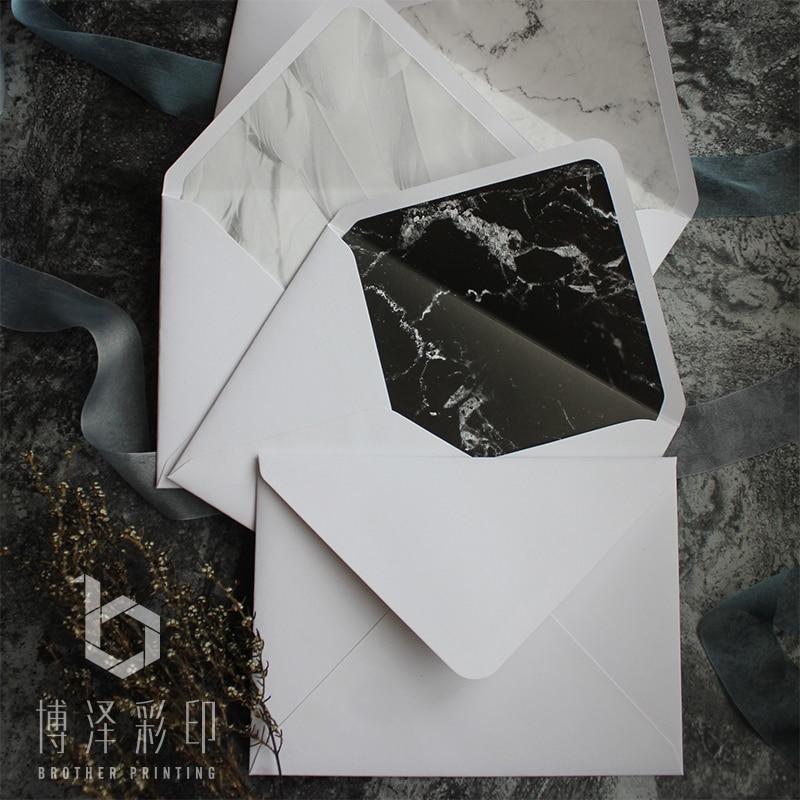 7.5 * 5.5 Inch 5pcs/pack Marble Texture Envelopes Paper Window Business Envelopes Wedding Invitation Envelope Gift Envelope