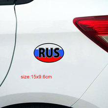 RUS Flag Car Sticker PVC Funny Creative Car Wrap Motorcycle Bumper Sticker Decoration Autom