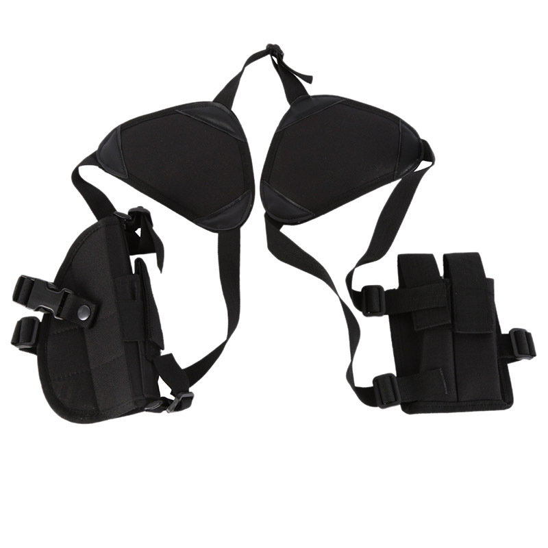 Outdoor Tactical Armpit Pull Case Universal Style Hidden Shoulder Suspender Strap Armpit Accessory Kit CS Field Operations Equip