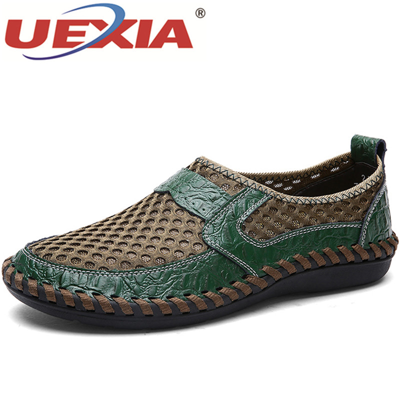 Quality Light Net Men Shoes Summer Breathable Mesh Casual Fashion Summer Soft Comfortable Flats Flying Woven Walking Footwears
