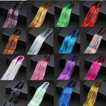 1 pc brilho brilhante cabelo enfeites extensões de cabelo dazzles feminino hippie para trança de cabelo ferramentas trança longo 100cm