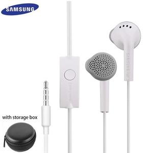 Image 1 - Samsung auriculares EHS61 con micrófono y sonido estéreo, auriculares de graves para Galaxy S6, S7, Edge, S8, S9, S10 Plus, J4, J6, A7, A10, A30, A50, A70