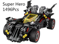 Dropshiping 07077 Movie Compatible With Legoing 70917 Ultimate Batmobile Set Educational Building Blocks Bricks Kids Toys Model