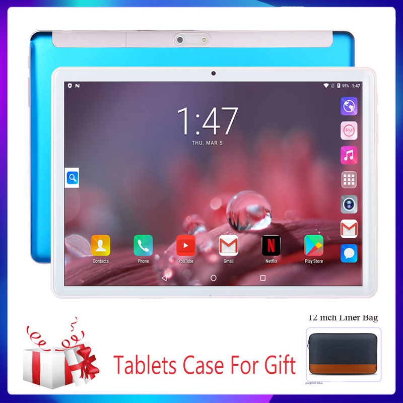 Tablet Pc 2020 New 10.1 Inch Tablet System 9.0 Quad Core 3G Phone Call Wi-Fi Bluetooth 4.0 Dual SIM Support Google Tablets+Keybo