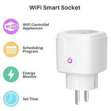Ue inteligente wi fi energia medidor de energia plug com monitor de energia casa inteligente wi fi sem fio tomada funciona com alexa casa do google
