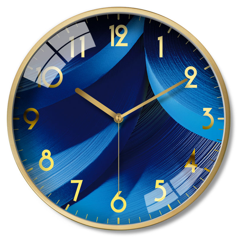 Metal Nordic Wall Clock Luxury Large Creative Living Room Wall Clock Bedroom Mute Relol Para Casa Wall Watch Home Decor DD50WC