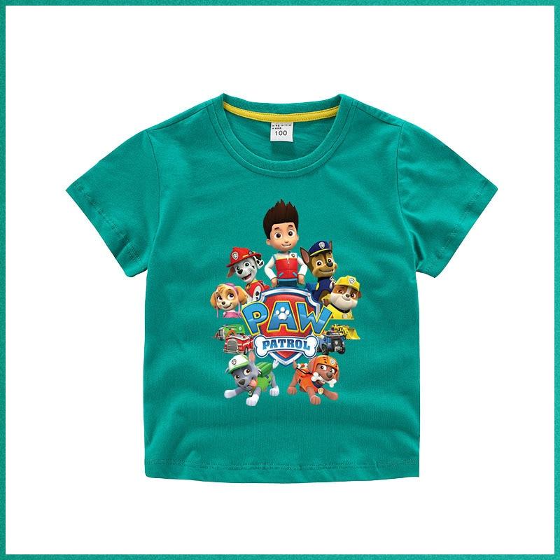 «Щенячий патруль» футболка с принтом «patrol» из чистого хлопка для мальчиков Новое поступление для детей, детская одежда для малышей
