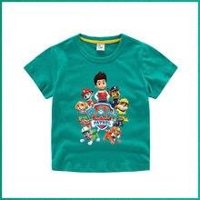 Camiseta de patrulha de pata algodão puro menino nova criança crianças roupas de bebê