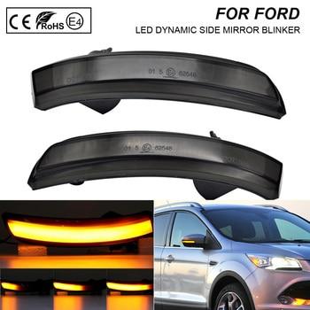 Pair dynamic LED side mirror blinker Light Turn Signal Lamp For Ford   Escape 2012-2016 Ecosport 14-18 Kuga 13-16