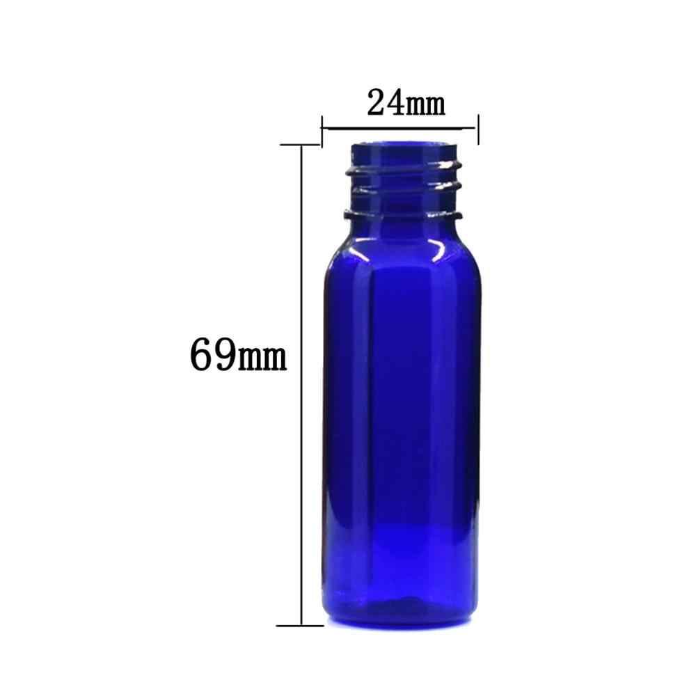 20ml okrągłe puste butelki plastikowe, przezroczysty/bursztynowa butelka pet z przezroczysty/biały/czarny seler przykręcana pokrywa x 10