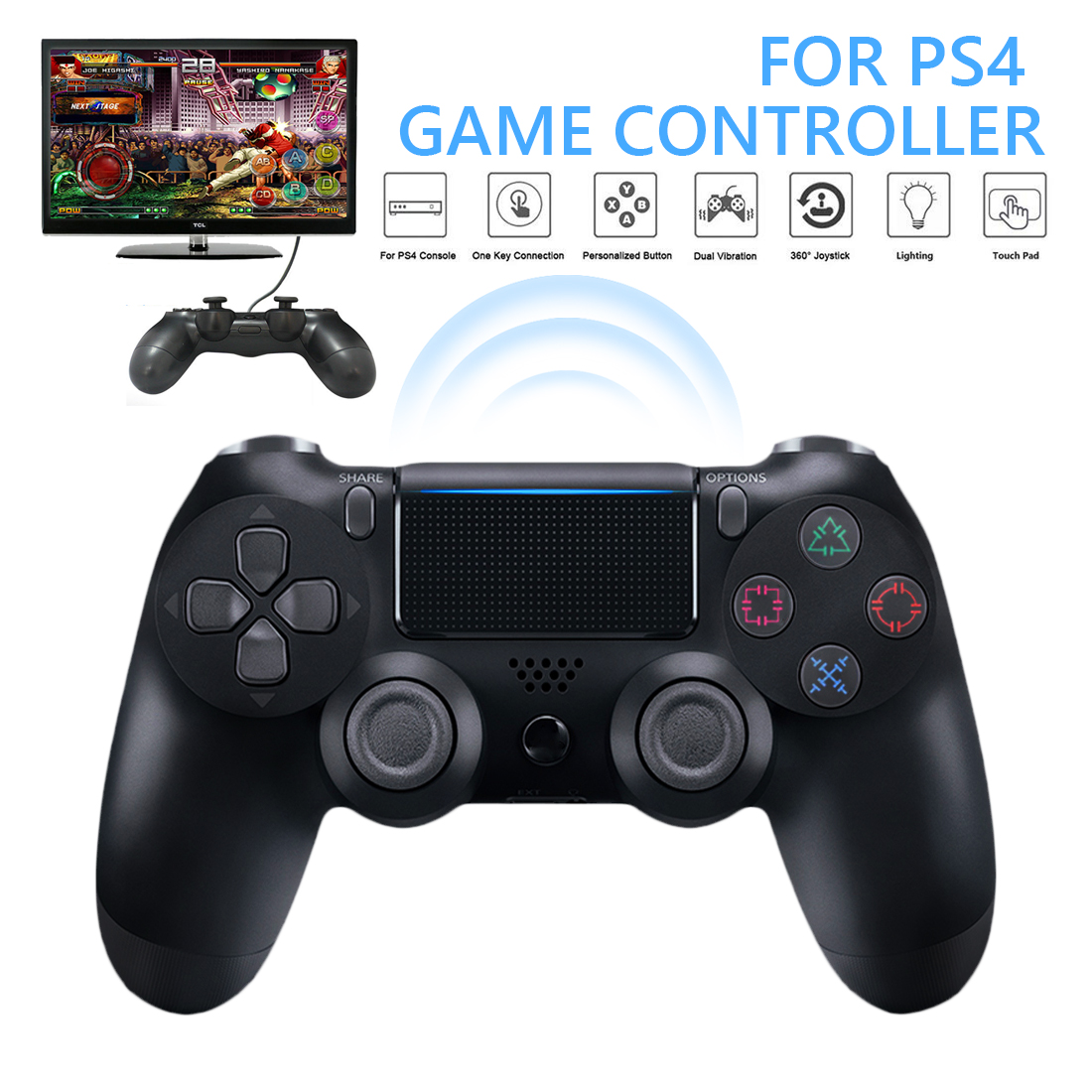 New PS4 Joystick Wireless Gamepad PS4 Controller  Wireless Wired Bluetooth Controller Dual Shock Joystick