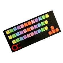 37 Keys PBT Colorful Keycap for Mechanical Keyboard MX Switch Double Shot OEM Profile Key Cap