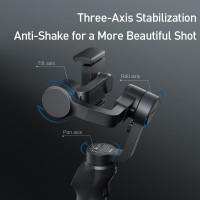 Baseus Handheld Gimbal Stabilizer 3-Axis Wireless Bluetooth Phone Gimbal Holder Auto Motion Tracking  foriPhone Action Camera