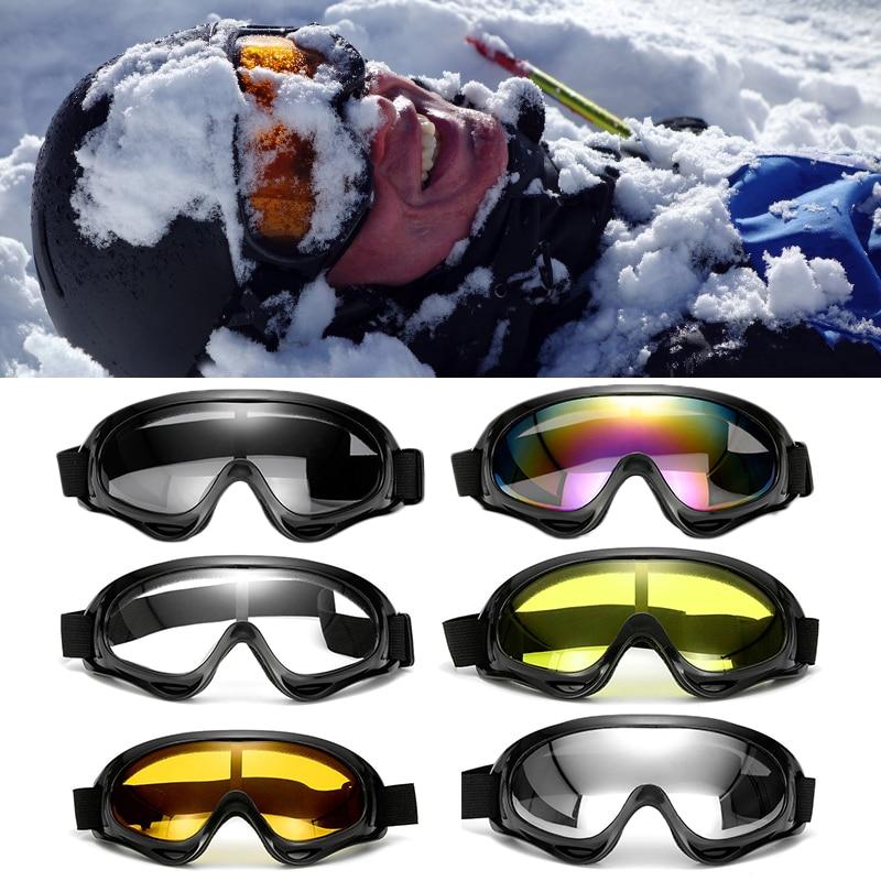 2 Pairs Motorcycle Goggles Snowboard Glasses Eyewear Dust Anti-fog Windproof