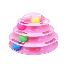 Cat Tower of Tracks Toy Toys Game with Balls Pet products Enhancing Intelligence cat play Pets Supplier