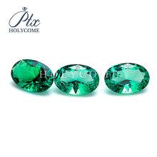 4x6mm wysokiej jakości cena zielony lab utworzono szmaragdowy owalny krój cena za karatowy diament do wyrobu biżuterii cena percarat 2020 najnowszy tanie tanio Osoba trzecia oceny green Grzywny Emerald jewelry making 1pcs color shape size anniversary party