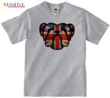 BRITISH BULLDOG T-SHIRT 100% COTTON UNION JACK BRITAIN ENGLAND ENGLISH T SHIRT Design Style New Fashion Short Sleeve Gray Style punk style women s shoulder bag with rivets and union jack design