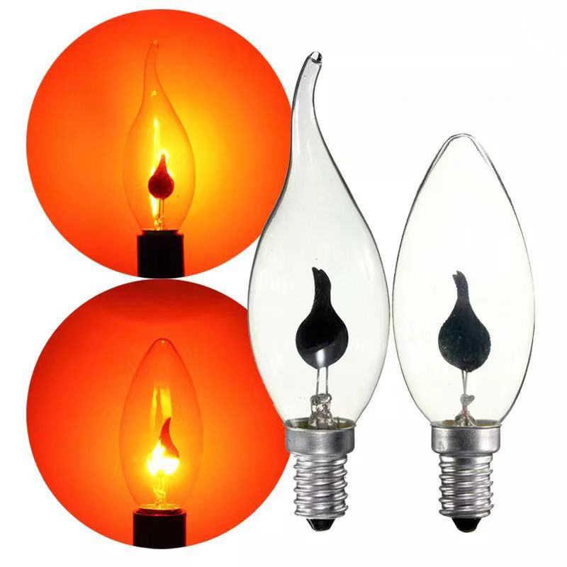 Винтажная Светодиодная лампа Эдисона E14 E27, светильник в форме свечи, лампа с эффектом пламени, 3 Вт, 220В, домашний декор, светильник, ампульная лампа в форме свечи