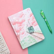 JIANWU sakura cuaderno con motivo de niña, planificador de página interior de Color, diario diy, diario, papelería, suministros de oficina kawaii