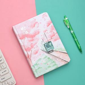 Image 1 - JIANWU ساكورا فتاة دفتر اللون الداخلية صفحة مخطط لتقوم بها بنفسك دفتر يوميات القرطاسية scool اللوازم المكتبية kawaii