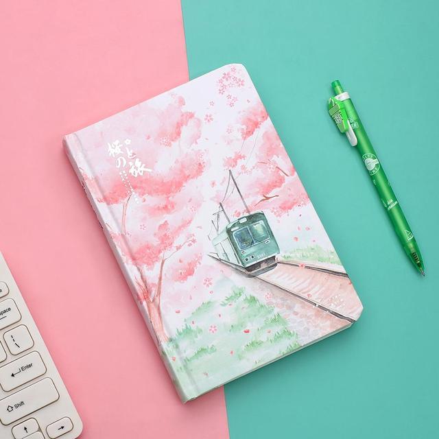 JIANWU ساكورا فتاة دفتر اللون الداخلية صفحة مخطط لتقوم بها بنفسك دفتر يوميات القرطاسية scool اللوازم المكتبية kawaii