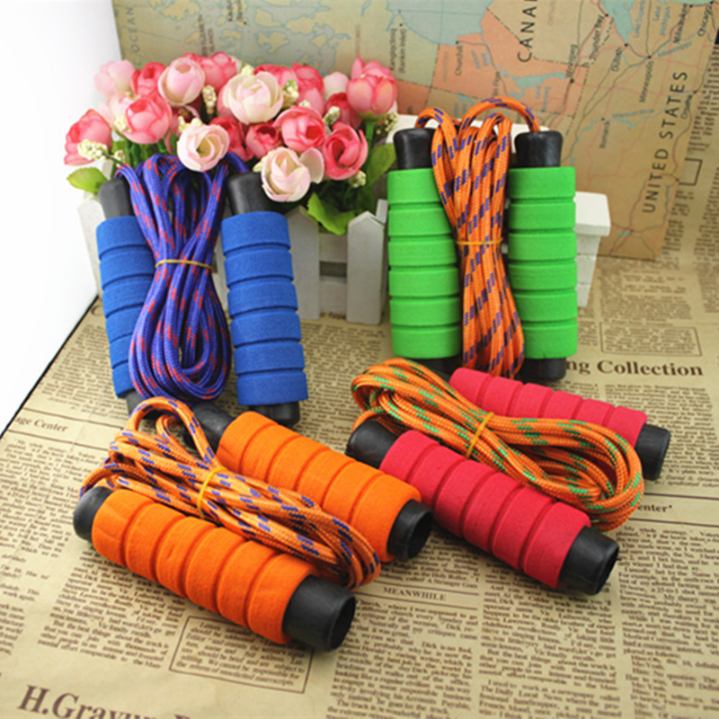 2.8 M Fitness Equipment <font><b>Skipping</b></font> <font><b>Rope</b></font> Women <font><b>Crossfit</b></font> Random Color Soft Sponge Training Boxing Sports Exercises Corda De Pular image