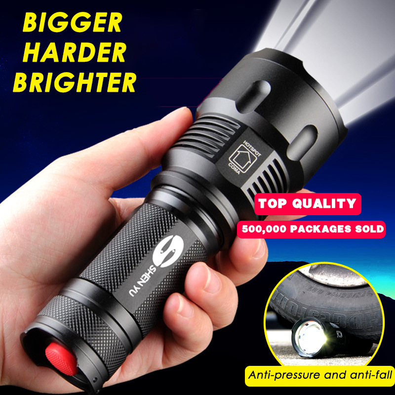 Strong Light LED Powerful Flashlight Rechargeable Aluminum Alloy T6 L6 Home Patrol Outdoor Home 26650 Searchlight Torch Lanterna