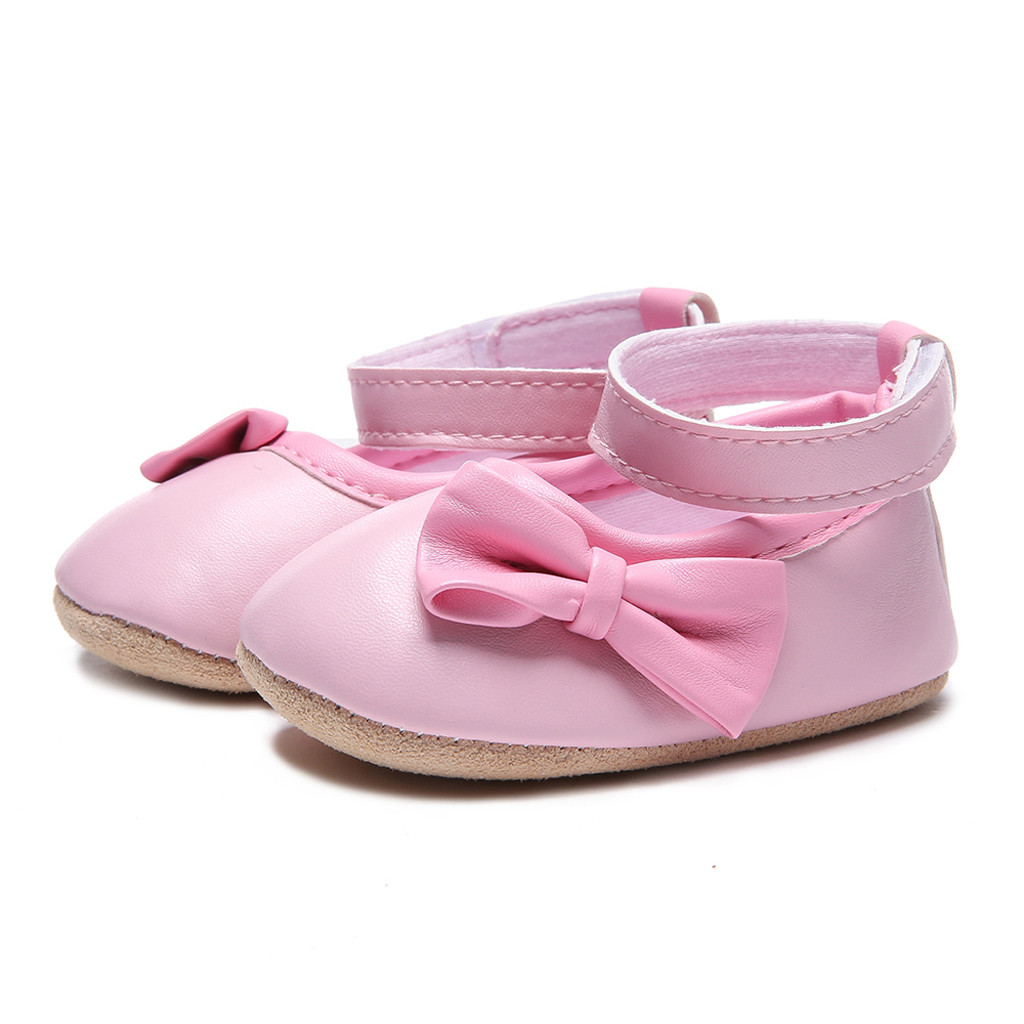 Newborn Shoes Baby Girl Baby Soft Leather Non-slip Toddler Shoes Single Shoes Princess Shoes Buty Niemowlece Schoenen
