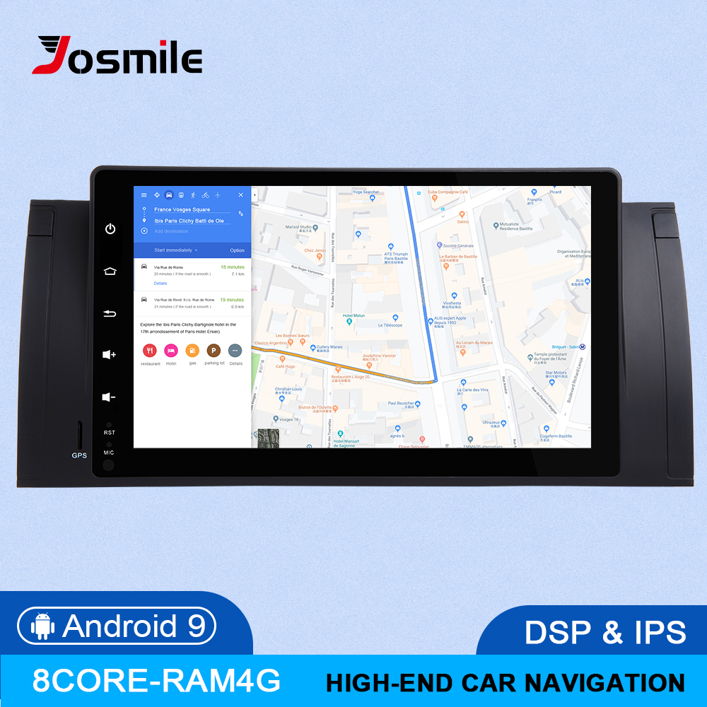 IPS 4GB 64G 2Din Android 9.0 Car NO DVD Player For <font><b>BMW</b></font> X5 E53 <font><b>BMW</b></font> <font><b>E39</b></font> multimedia Radio GPS navigation head unit Audio stereo DSP image
