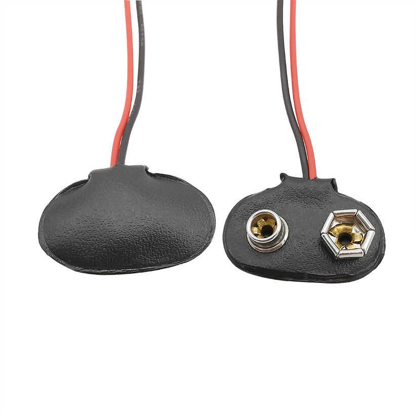 20Pcs 9V Battery T Clip Lead Wire Connector Camera Radio Red Black