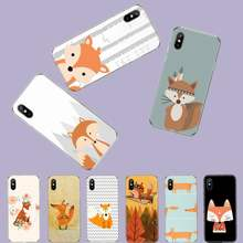 Fox animal de dibujos animados lindo coque funda bape funda para teléfono móvil para iphone 4 4s 5 5s 5c se 6 6s 7 8 plus x xs x xr 11 pro max(China)