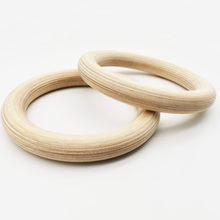 High Quality Wooden Gymnastic Rings For Sport Training