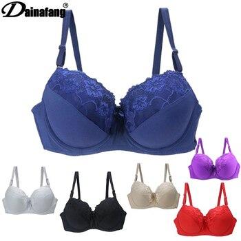 BCDE Cup, женские кружевные бюстгальтеры пуш-ап, сексуальное массажное белье, женские бюстгальтеры с цветочным принтом, женское нижнее белье, 34-44, 6 цветов