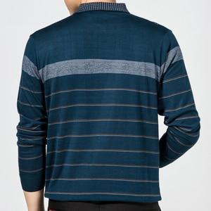 Image 5 - 2020 カジュアル長袖ビジネスメンズシャツ男性ストライプファッションブランドポロシャツデザイナー男性tenisポロカミーサソーシャル 5158