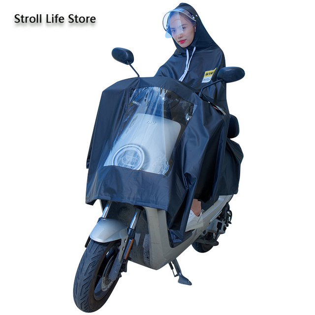 Electric Motorcycle Rain Suit Raincoat Adult Plastic Suit Riding Bicycle Clear Rain Coat Rain Poncho Cover Capa De Chuva Gift 2