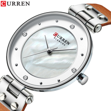 CURREN Zegarek Damski Wristwatch Quartz Watches Genuine Leather Band 2019 New Fashion Design Sport Watch Waterproof Hardlex цена в Москве и Питере