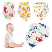 1Pcs Giraffe Bandana Bibs Baby Feeding Smock Infant Burp Cloths Cartoon Saliva Towel Baby Eating Accessory Soft Baby Stuff Towel