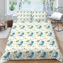 Комплект постельного белья с милыми птицами художественный комплект