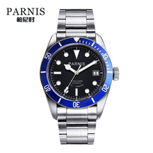 Parnis Automatic Watch Men Stainless Steel Luminous Luxury Brand Sapphire Crystal Mens Miyota Mechanical Watches Gifts for Men