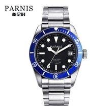 Parnis Automatische Horloge Mannen Roestvrij Staal Lichtgevende Luxe Merk Sapphire Crystal Mannen Miyota Mechanische Horloges Geschenken Voor Mannen