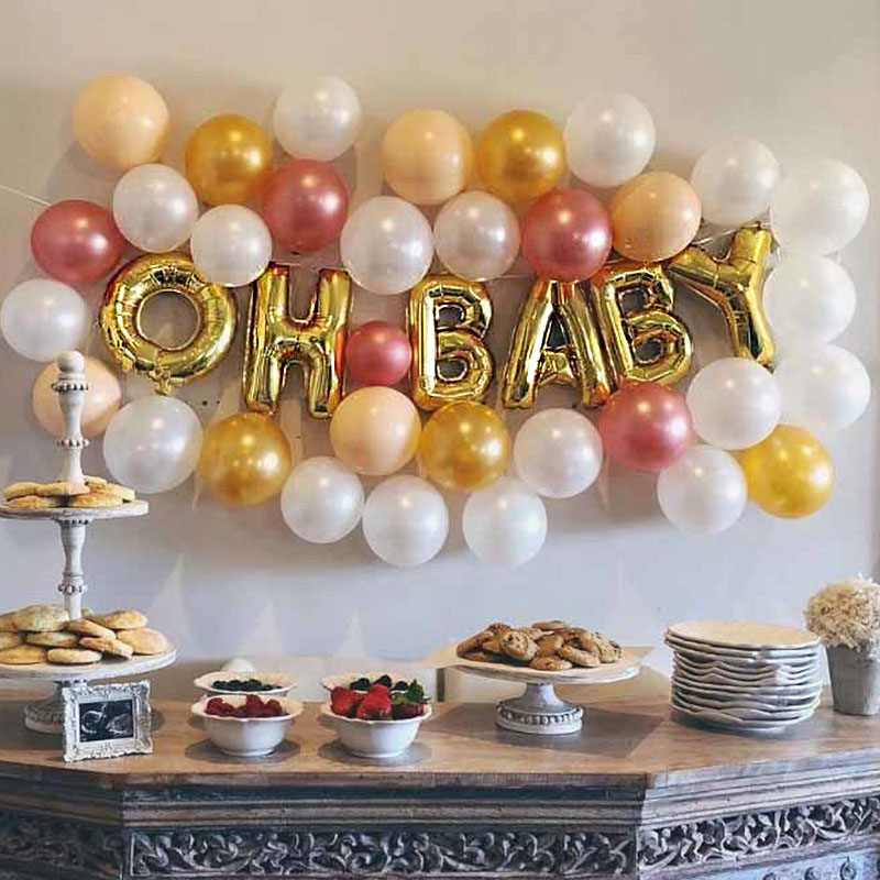 Baby Shower Letter Balloons.Us 0 65 25 Off 16inch Oh Baby Letter Balloons Birthday Baby Shower It S Boy Or Girl Foil Ballons Babyshower Birthday Party Supplies Kids S8xn On