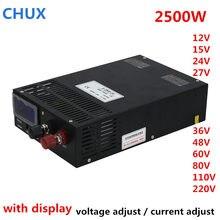 Adjustable Switching Power Supply 2500W 0-12V 15V 24V 36V 48V 60V 80V 100V 110V 200V 300V AC DC LED Power Supplies
